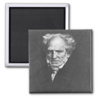Arthur Schopenhauer 2 Inch Square Magnet