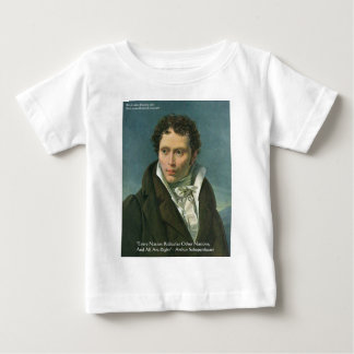 "Arthur Schopenhauer ""Nations Ridicule"" Quote Gifts Baby T-Shirt"