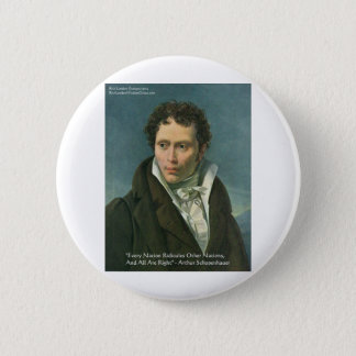 """Arthur Schopenhauer """"Nations Ridicule"""" Quote Gifts Button"""