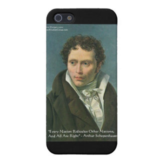 "Arthur Schopenhauer ""Nations Ridicule"" Quote Gifts Cover For iPhone SE/5/5s"