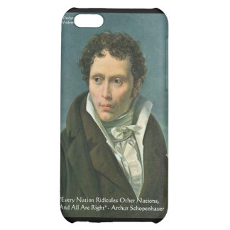"Arthur Schopenhauer ""Nations Ridicule"" Quote Gifts Case For iPhone 5C"