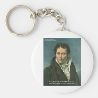 """Arthur Schopenhauer """"Nations Ridicule"""" Quote Gifts Keychain"""