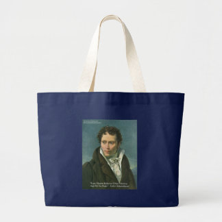 """Arthur Schopenhauer """"Nations Ridicule"""" Quote Gifts Large Tote Bag"""