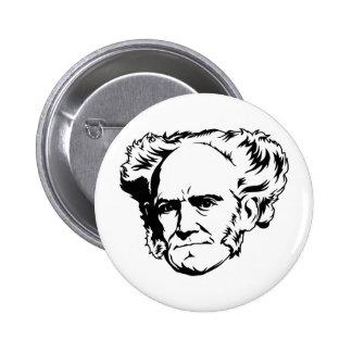 Arthur Schopenhauer Portrait Button
