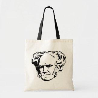 Arthur Schopenhauer Portrait Canvas Bags