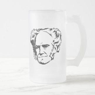 Arthur Schopenhauer Portrait Frosted Glass Beer Mug