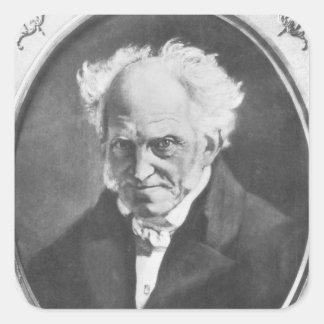 Arthur Schopenhauer Square Sticker