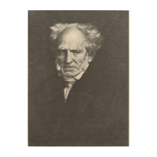 Arthur Schopenhauer Wood Wall Decor