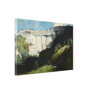 Arthur Streeton - Malham Cove Canvas Print