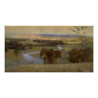 Arthur Streeton - 'Still_glides_the stream, and_sh Poster