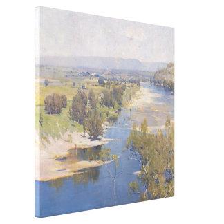 Arthur Streeton - 'The purple noon's transparent m Canvas Print
