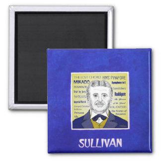 Arthur Sullivan 2 Inch Square Magnet