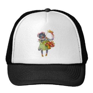 Arthur Theile Kitty Cat with Flower Basket Trucker Hat
