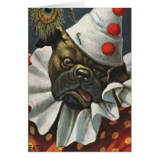 Arthur Thiele (1860-1936) Bulldog Pierrot Clown Card
