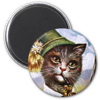 Arthur Thiele - Bavarian Alps Cat 2 Inch Round Magnet