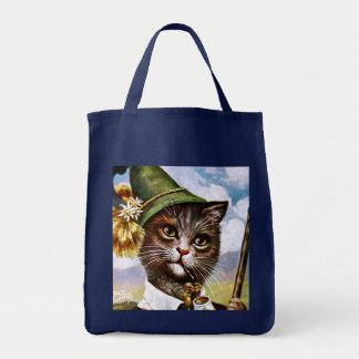 Arthur Thiele - Bavarian Alps Cat Tote Bag