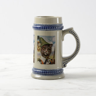 Arthur Thiele - Bavarian Alps Cat Beer Stein