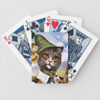 Arthur Thiele - Bavarian Alps Cat Bicycle Playing Cards