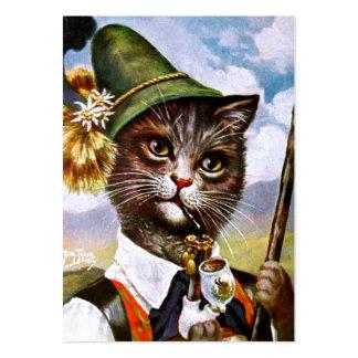 Arthur Thiele - Bavarian Alps Cat Business Card Template