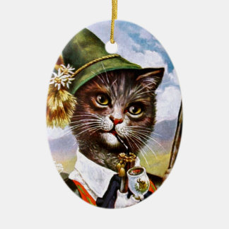 Arthur Thiele - Bavarian Alps Cat Ceramic Ornament