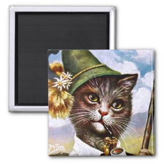Arthur Thiele - Bavarian Alps Cat Magnet