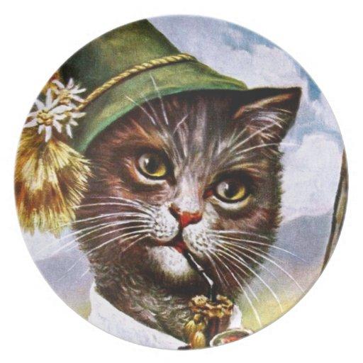 Arthur Thiele - Bavarian Alps Cat Party Plates