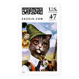 Arthur Thiele - Bavarian Alps Cat Postage