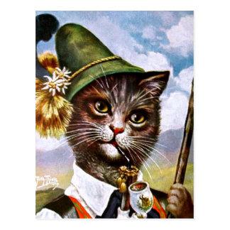Arthur Thiele - Bavarian Alps Cat Postcard