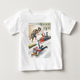 Arthur Thiele - Bobsledding Anthropomorphic Cats Baby T-Shirt