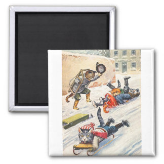 Arthur Thiele - Bobsledding Anthropomorphic Cats Magnet