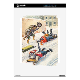 Arthur Thiele - Bobsledding Anthropomorphic Cats Skins For iPad 2