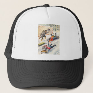 Arthur Thiele - Bobsledding Anthropomorphic Cats Trucker Hat
