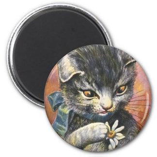 Arthur Thiele - Cat in Love 2 Inch Round Magnet