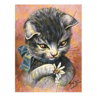 Arthur Thiele - Cat in Love Postcard