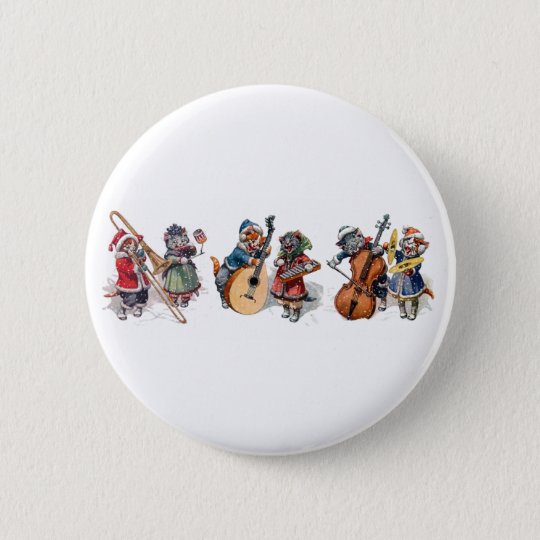 Arthur Thiele - Cat Orchestra in the Snow Pinback Button