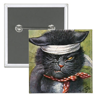 Arthur Thiele - Cat with Toothaches Button
