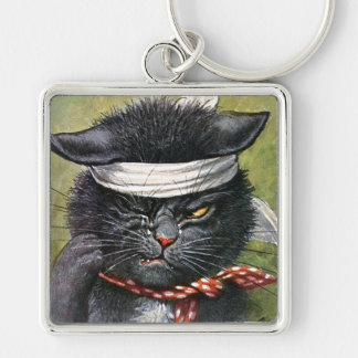 Arthur Thiele - Cat with Toothaches Keychain