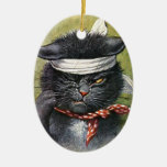 Arthur Thiele - Cat with Toothaches Christmas Ornament