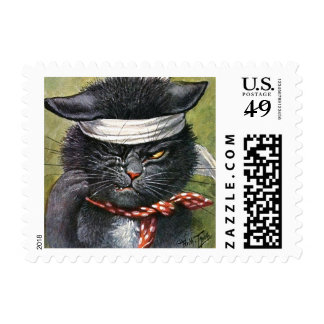 Arthur Thiele - Cat with Toothaches Postage