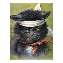 Arthur Thiele - Cat with Toothaches Postcard