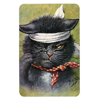 Arthur Thiele - Cat with Toothaches Rectangular Photo Magnet