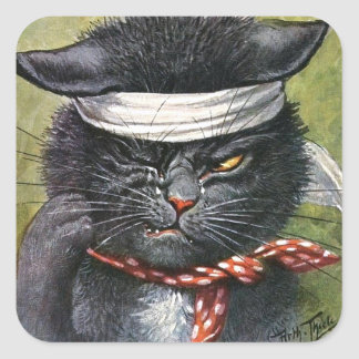 Arthur Thiele - Cat with Toothaches Square Sticker