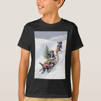 Arthur Thiele - Cats Bring home a Christmas Tree T-Shirt