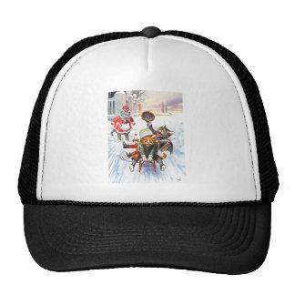 Arthur Thiele - Cats Going Downhill Snow Sledding Trucker Hat