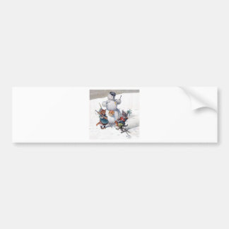 Arthur Thiele - Cats Play with the Snowman Bumper Sticker