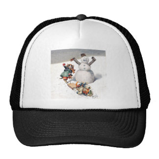 Arthur Thiele Cats Playing in the Snow Trucker Hat
