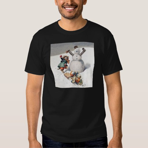 Arthur Thiele Cats Playing in the Snow Tee Shirt