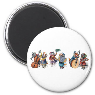Arthur Thiele - Cats Playing Musical Instruments 2 Inch Round Magnet