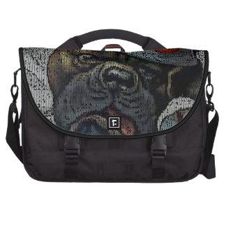 Arthur Thiele: Dog in Clown Suit - Knitting Effect Laptop Commuter Bag