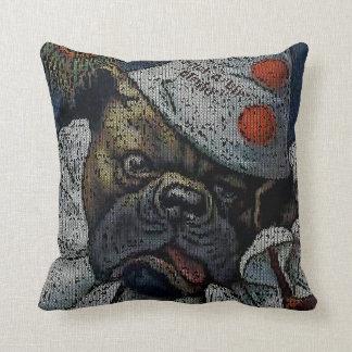 Arthur Thiele: Dog in Clown Suit - Knitting Effect Pillow